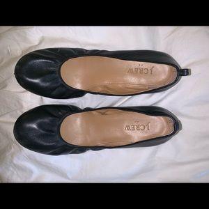 Black jcrew ballet flats